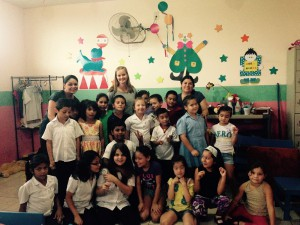 Volunteer Ditte in der Guardería in Heredia